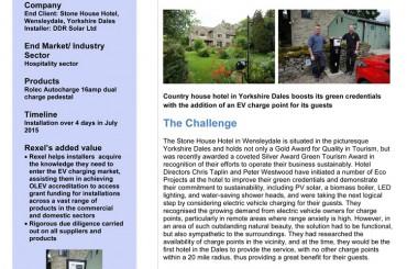 Une borne de recharge pour véhicules électriques dans un hôtel du Yorkshire
